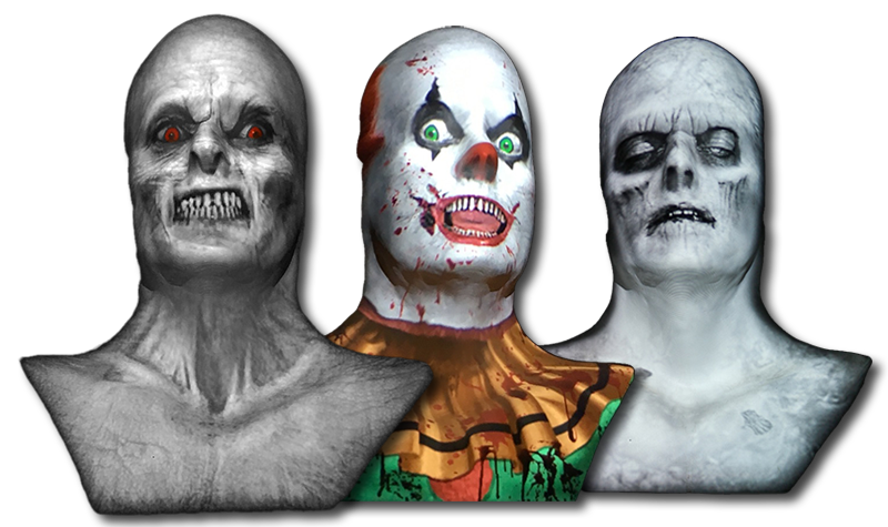 Animated Ghost Busts